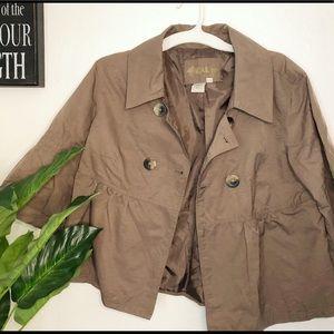 Nordstrom LAL Peplum Trench Coat Jacket